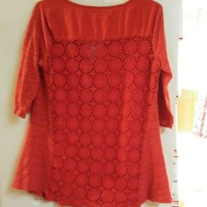 A Pea In The Pod Red Maternity Top
